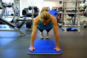 Push-Up: One of my Tabata training faves