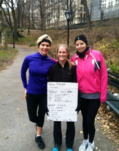 Kicking off December with a brisk workout in Central Park