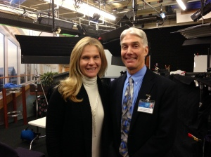 With Dr. Donald Hensrud, Medical Director of Mayo Clinic's Healthy Living Program