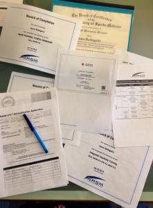 Weekend paperwork